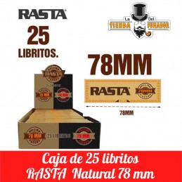PAPEL RASTA NATURAL 78MM 25...