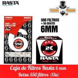 FILTROS RASTA 6MM 500+50 13...