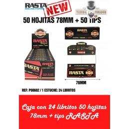 PAPEL RASTA 78mm + TIPS 50...