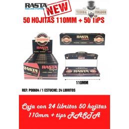 PAPEL RASTA 110mm + TIPS 50...