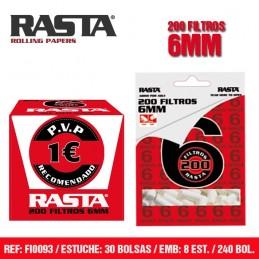 FILTROS RASTA 6MM/200FIL (30u)