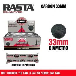 CARBON RASTA 33MM (10u)