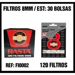 FILTROS RASTA 8MM (30u)