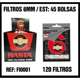 FILTROS RASTA 6MM (45u)