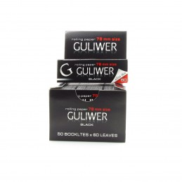 PAPEL GULIWER BLACK 78MM (50u)