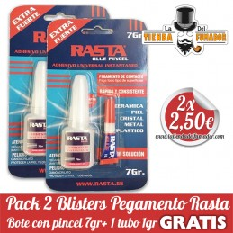 Pack 2 blisters pegamento...