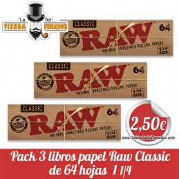 Pack 3 libritos papel RAW...